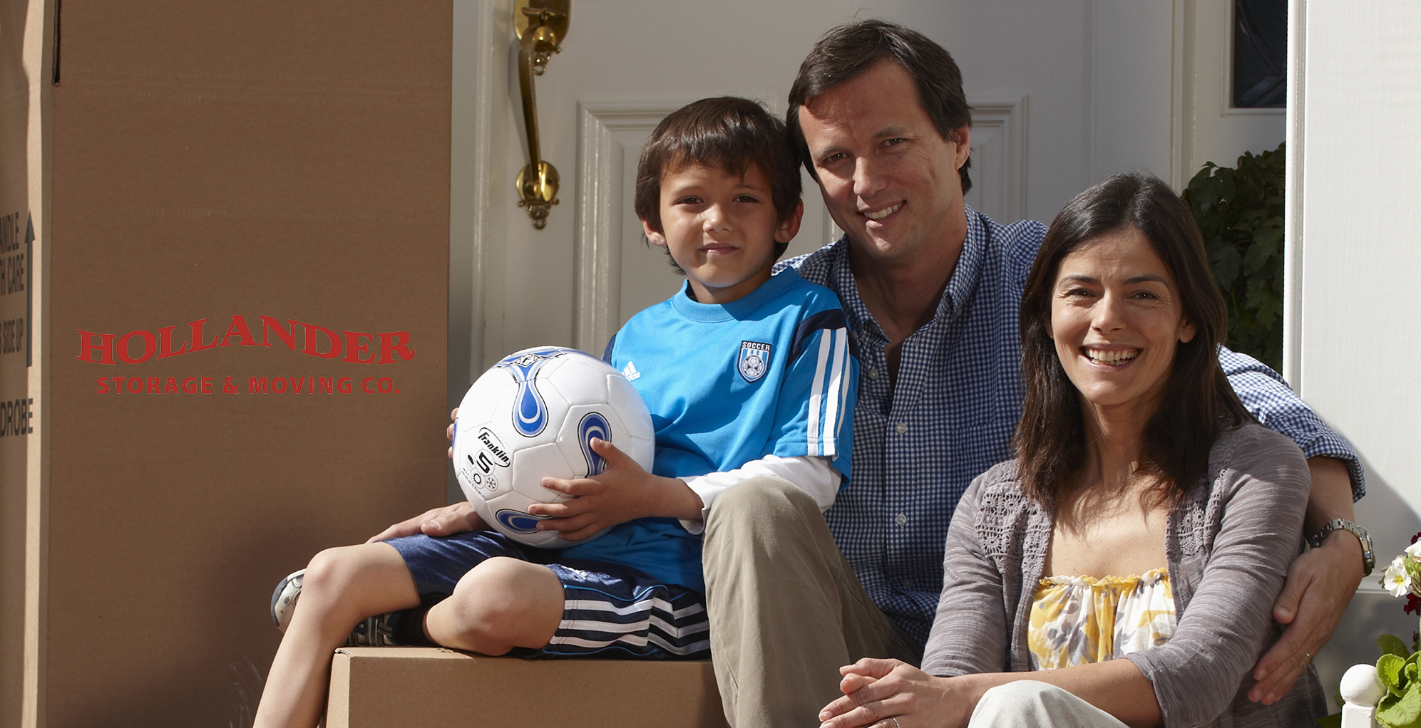 Family of 3 with Moving Boxes