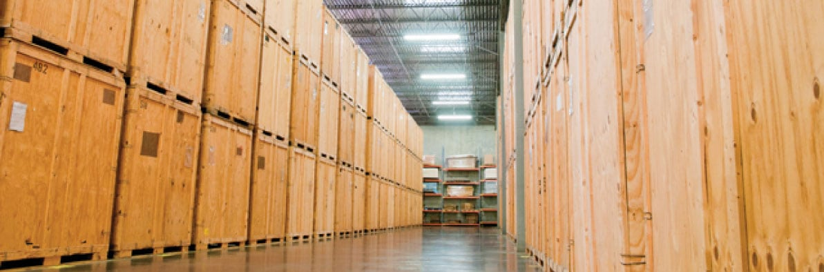 Warehouse of Storage Containers